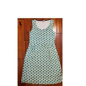 Boden Green and White Circle Stretchy Knit Size 10